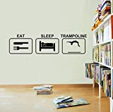 Wandaufkleber Eat Sleep Trampolin Wandaufkleber Vinyl Trampolin Removable Living Cartoon Art Decor...