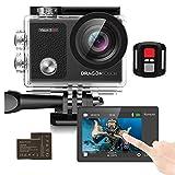 Dragon Touch Action Cam 4K / onderwaterkamera 16 MP WiFi Sports Camera waterdichte camera 30M 170° Touch beeldscherm groothoek afstandsbediening met 2 batterijen Vision 3 Pro