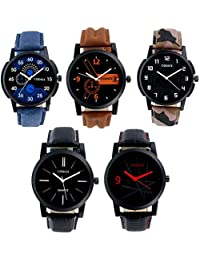 Codice Analogue Multicolor Dial Men's & Boy's Combo Of 5 Watch - Menswatcheslr-12358