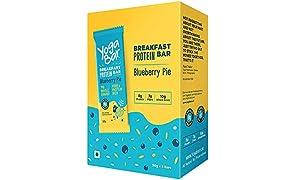 Yogabar Breakfast Protein Blueberry Bars - 300gm, 50 g x 6 Bars