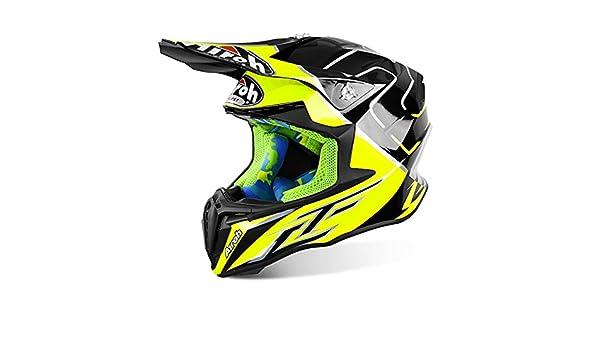 Motocross Motox Full Face Motorbike Airoh Twist Cairoli Mantova Yellow Helmet