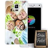 dessana Eigenes Foto transparente Schutzhülle Handy Tasche Case für Samsung Galaxy Note 4