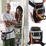 tradeshoptraesio®–TASCHE Bauchtasche Gürtel Werkzeugtasche für Arbeit Werkzeuge Elektriker Maurer