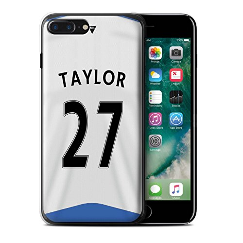 Officiel Newcastle United FC Coque / Etui pour Apple iPhone 7 Plus / Rivière Design / NUFC Maillot Domicile 15/16 Collection Taylor