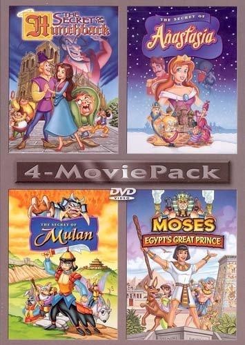 Anastasia , Mulan , Moses Egypt's Great Prince , The Secret Of The Hunchback : Box Set