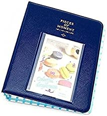 PAT 3 Inches Piece of Moment Candy Color Fuji Photo Book Album/Name Card (Navy, fuji_albumlomo_navy)- 64 Pockets