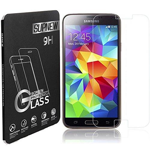 [2-pack] Samsung Galaxy S5 Mini Panzerglas, Supnew Gehärtetem Glas Schutzfolie Hartglas Schutzglas für Samsung Galaxy S5 Mini
