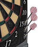 UItrasport Dartboard elektronisch, Classic Dartboard für 8 Spieler, 28 Spiele, 167 Varianten / elektronische Dartscheibe inklusive 12 Softpfeile, Dartspiel mit LED-Anzeige - 3