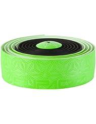 Supacaz Et Race One Super Sticky Kush–Cinta adhesiva para manillar, Super Sticky Kush, Noir/Vert Néon