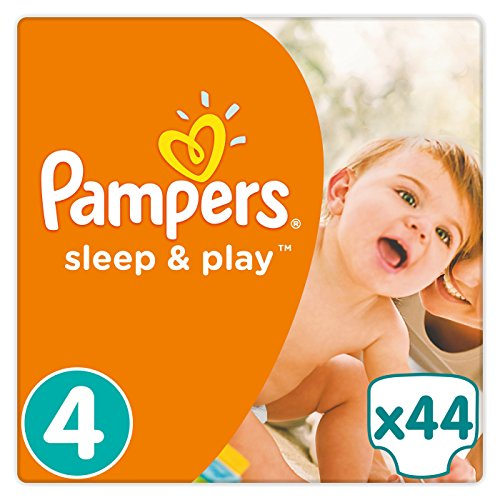 Pampers - Sleep & Play - Couches Taille 4 (7-18 kg) - Pack Géant (x44 couches)