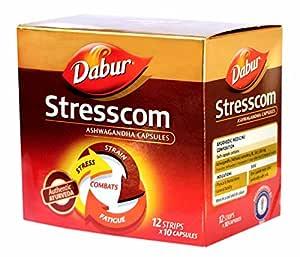 DABUR Stresscom Ashwagandha 12 Strips X 10 Capsules