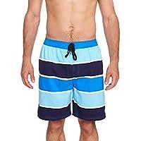 Zoggs Wategos Pantaloncini da nuoto Suit, Uomo, Wategos Shorts, Blue/Navy/Sky Blue, 36-Inch/Large
