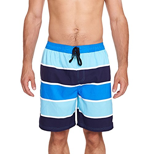 Zoggs Herren Badeshorts wategos Shorts Anzug, Blau/Navy/Sky Blue, 101,6cm/2x große