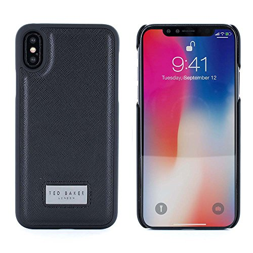 Ted Baker 53239 Inlay Hard Shell für Apple iPhone X/Xs Franky Schwarz -
