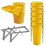 Profi Schuttrutsche Bauschuttrutsche Baurutsche 11 m, Set aus 10x Schuttrohr, Gestell und Einfülltrichter