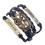 Armband unendliche OWL Karma Bronze infinity