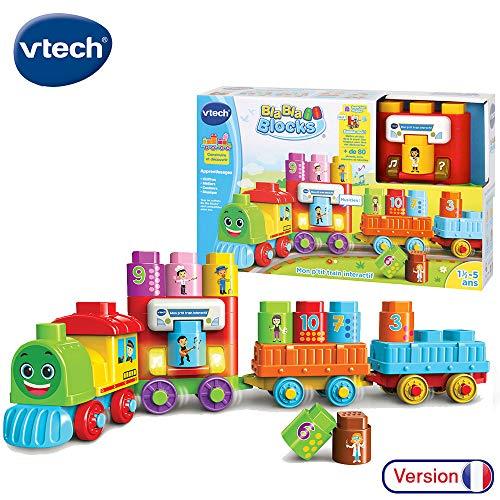 VTech- P'TIT Train INTERACTIF Bla Blocks Construction, 80-606605, Multicolore
