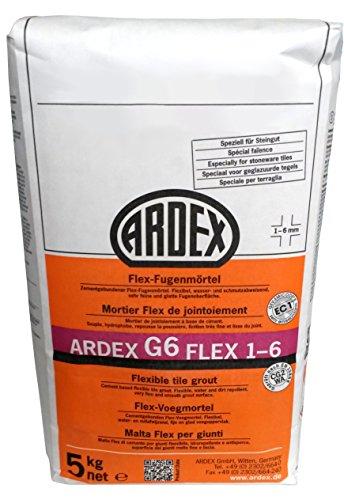 """ARDEX G6 Flex-Fugenmörtel 1-6mm 5kg, Farbe """"bahamabeige"""" für Innen und Aussen, lange verarbeitbar"""