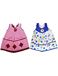 Popcorn Baby Girls Cotton Frock Combo (New Arrival Frocks for Kids) Sleeveless