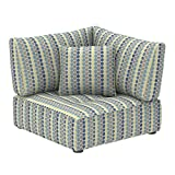 Marca Amazon -Alkove Elvas - Módulo de esquina con almacenaje y cojín adicional para sofá modular, 100 x 100cm, de lunares