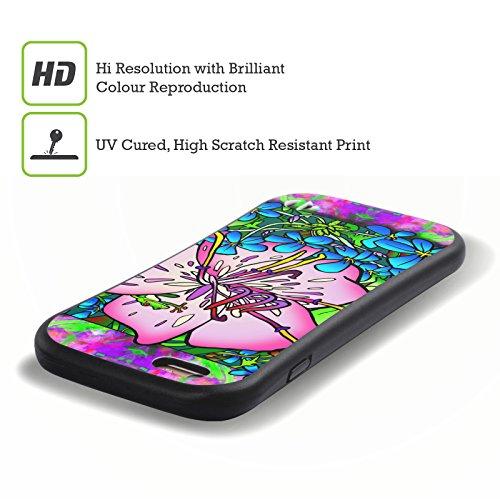 Ufficiale Howie Green Ciotola Di Papaveri Fiori Case Ibrida per Apple iPhone 7 Plus / 8 Plus Rana Rosa