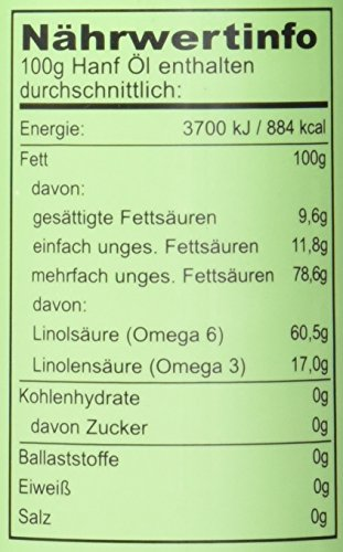 Seitenbacher Bio Hanf Öl rein nativ, kaltgepresst/1 Pressung, 1er Pack (1 x 250 g) - 2
