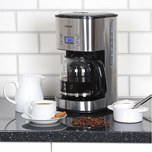 51nD8lJJNFL. SS500  - Igenix IG8250 Digital Filter Coffee Maker, 12 Cup Carafe, Automatic 24 Hour Timer and Keep Warm Function, Removable…