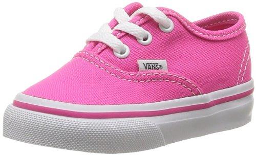 Vans T Authentic Neon, Baskets mode mixte enfant Rose (Pink Glo)