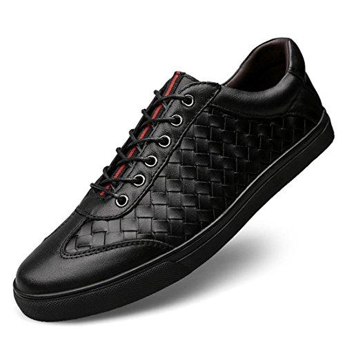 46 traspirante black DIMENSIONE formatori 38 casual Taglia Moda pelle sportive larga Tessere Uomo Scarpe euro Scarpe Scarpe di 1qaRTw
