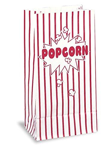 """Único - Bolsas de papel para las palomitas de maíz de 10""""x 5.25"""", paquete de 10 piezas"""