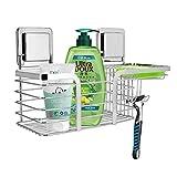 Duschkorb Duschablage Ohne Bohren, LEEFE Selbstklebend Duschregal Edelstahl Badregal für Küchen & Badezimmer, Laden bis zu 7KG
