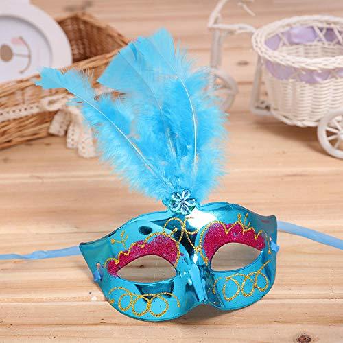 Die Hälfte Maskerade Maske - Maskerade Masken,Venedig Paare Party Blau Galvanischen