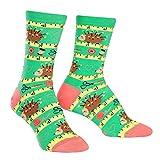 Sock it to me - Damen Socken - Sew Crafty- lustige Damen Socken mit Igel und Nähutensilien Schneiderin Gr.36-42 One Size