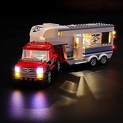 LIGHTAILING Jeu De Lumières pour (City Le Pick-up et sa Caravane) Modèle en Blocs De Construction - Kit De Lumière A LED Compatible avec Lego 60182(Ne Figurant Pas sur Le Modèle)