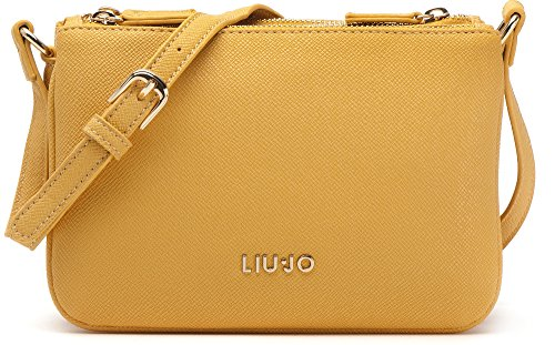 LIU JO, borsa da donna, Borsa a tracolla, Borsa con tracolla, Borsetta, Pochette, Giallo, 19 x 13 x 8cm (LxHxP)