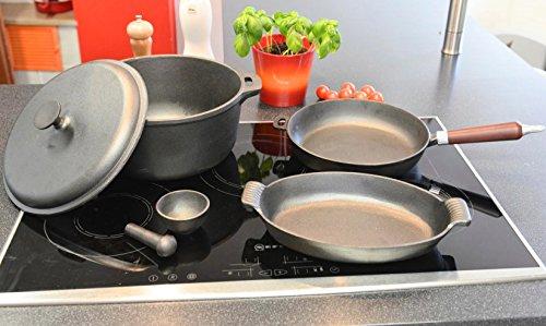 Cast Iron Cookware Set Sechsteilig (Kazan)