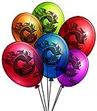 Upyaa - 430165 - 12 Ballons de Baudruche Têtes Brulées