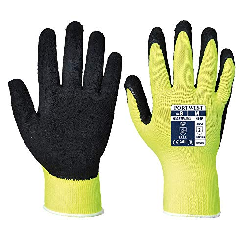 Portwest A340 Paire de gants à grip antidérapant haute visibilité