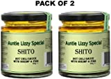 Shito Black Pepper, Ghanaian Spicy Chilli Sauce with Fish & Shrimp (HOT) - (Pack of 2) 160 g each - Auntie Lizzy Special Shito