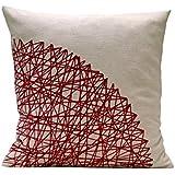 Granat Kissen. Geometrische Muster kissenbezug 40 x 40 cm. BeccaTextile.