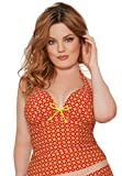 Curvy Kate Damen Tankini, Orange, CS2826