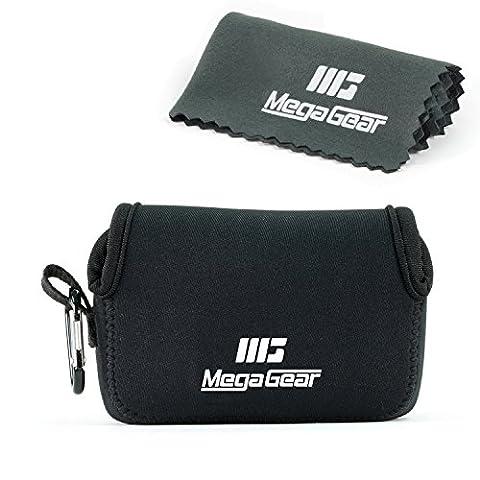 """MegaGear """"Matériau Léger"""" Neoprene Sac photo Housse Étui Sacoche pour Sony Cyber-shot DSC-RX100 V, DSC-RX100 IV, Olympus Tough TG-4, TG‑5 (Noir)"""