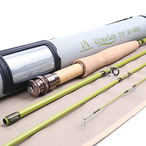 Maxcatch Ultra-lite Fliegenrute für Streams Panfish/Forellen angeln 1/2/3 Gewicht (3-weight 7'6'' 4-Piece)