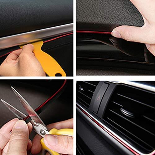 /Borsa decorativo set 6/m universale DIY Flexible Trim Line con installazione attrezzo per auto styling Gap guarnire di Mulove 3D auto decorazione interna modanatura strisce/