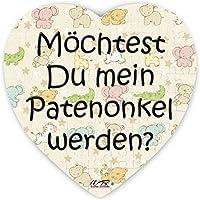Puzzle-Botschaft Herz ~ Möchtest Du mein Patenonkel werden - bunt ~ 75 Teile 19x19cm inkl. Geschenk-Beutel ~ WB wohn trends®