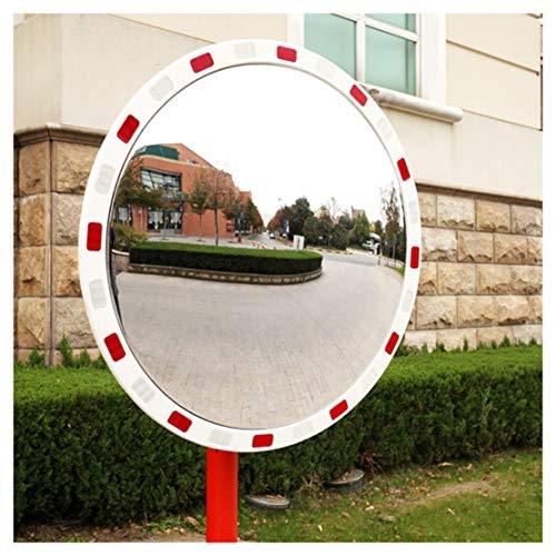 Turno Esterno Blind Spot Specchio, 80 centimetri acrilico curvo Specchio, Specchio Notte, all\'aperto Grandangolo Sicurezza Stradale specchio convesso bianco curvo