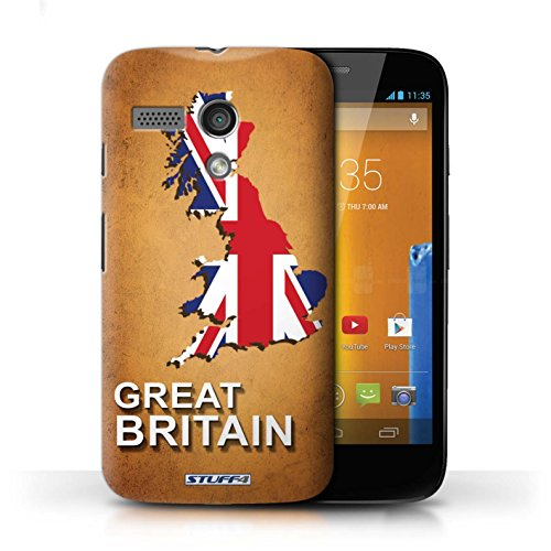 Kobalt® Imprimé Etui / Coque pour Motorola MOTO G (2013) / Italie/Italien conception / Série Drapeau Pays grande-Bretagne