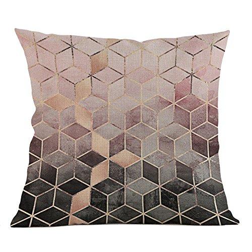 U.Expectating Home Decor Kissenbezug Textur Plaid Kissenbezug Kissenbezug 18x18 Zoll Geeignet für Wohnzimmer Schlafzimmer Fensterständer (A) -