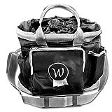 Putztasche schwarz Pferdeputztasche Putzbeutel mit Trageriemen
