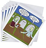 3dRose gc_3804_1 6 x 6-Inch Halloween Zombies Are Invited To Michael Jacksons Party Greeting Card